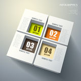 Abstract 3d cube infographics Royalty Free Stock Photography
