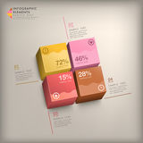 Abstract 3d cube infographics. Modern vector abstract 3d cube infographic elements Royalty Free Stock Photos
