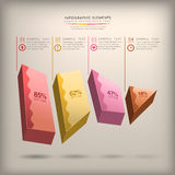 Abstract 3d cube infographics Royalty Free Stock Images