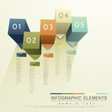 Abstract 3d cube infographics. Modern vector abstract 3d cube infographic elements Royalty Free Stock Photo
