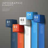 Abstract 3d cube infographics. Modern vector abstract 3d cube infographic elements Stock Images