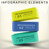 Abstract 3d cube infographics. Realistic vector abstract 3d cube infographic elements royalty free illustration