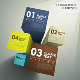 Abstract 3d cube infographics. Realistic vector abstract 3d cube infographic elements vector illustration