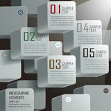 Abstract 3d cube infographics Stock Photos