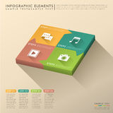 Abstract 3d cube infographics. Vector abstract flat design cube infographic elements vector illustration