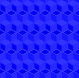 Abstract 3d cube pipe pattern background. Blue triangle and rhombus pattern background, 3d isometric illustration pattern background Royalty Free Stock Photography