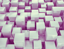 Abstract 3d cubes background. Abstract metallic 3d cubes background royalty free illustration