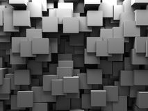 Abstract 3D Cubes Blocks Wallpaper Background. 3d Render Illustration Royalty Free Stock Photos