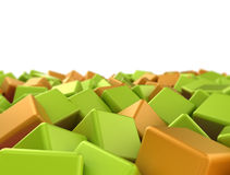 Abstract 3d cubes Stock Photography
