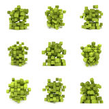 Abstract 3d cubes. set Stock Photo