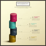 Abstract 3d cylinder infographics. Modern vector abstract 3d cylinder infographic elements vector illustration