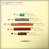 Abstract 3d cylinder infographics Royalty Free Stock Photography