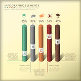 Abstract 3d cylinder infographics Stock Photos