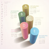 Abstract 3d cylinder infographics. Vector abstract 3d cylinder infographic elements vector illustration