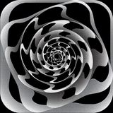 Abstract 3D design. Rotation spiral movement Royalty Free Stock Photo