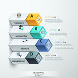 Abstract 3d diagram infographics options. Vector illustration. can be used for workflow layout, banner, number options, step up options, web design Stock Illustration