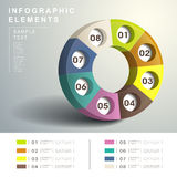 Abstract 3d Dialpad infographics. Realistic vector abstract 3d Dialpad infographic elements royalty free illustration
