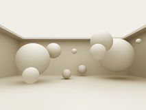 Abstract 3d Different Spheres Background Royalty Free Stock Photos