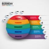 Abstract 3D digitaal bedrijfsgebied Infographic Stock Foto's