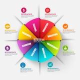 Abstract 3D digitaal bedrijfsorigamidiagram Infographic Royalty-vrije Stock Fotografie