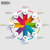 Abstract 3D digital business arrow diagram Infographic. EPS10 Stock Image