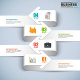 Abstract 3D digital business arrow Infographic royalty free illustration