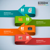 Abstract 3D digital business arrow Infographic. EPS10 Royalty Free Illustration