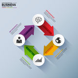 Abstract 3D digital business arrow Infographic. EPS10 Stock Illustration
