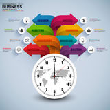 Abstract 3D digital business arrow Infographic Stock Photos