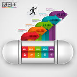 Abstract 3D digital business arrow Infographic. EPS10 Stock Photography