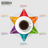 Abstract 3D digital business arrow Infographic. EPS10 Royalty Free Stock Photo