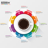 Abstract 3D digital business arrow Infographic. EPS10 Stock Image