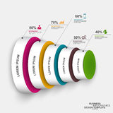 Abstract 3D digital business circle Infographic Stock Image