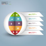 Abstract 3D digital business circle Infographic Royalty Free Stock Images