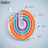 Abstract 3D digital business circle Infographic. EPS10 Royalty Free Stock Photo
