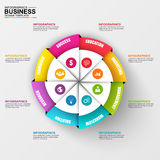 Abstract 3D digital business diagram Infographic. Can be used for workflow process, business chart, banner, diagram, number options, work plan, web design royalty free illustration