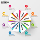 Abstract 3D digital business diagram Infographic Royalty Free Stock Photography