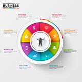 Abstract 3D digital business diagram Infographic. EPS10 vector illustration