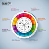 Abstract 3D digital business diagram Infographic. EPS10 royalty free illustration