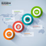 Abstract 3D digital business Infographic royalty free illustration