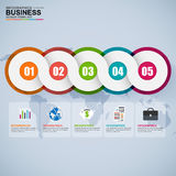 Abstract 3D digital business Infographic stock illustration