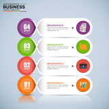 Abstract 3D digital business Infographic Stock Photos