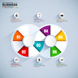 Abstract 3D digital business Infographic. Can be used for workflow layout, timeline, banner, diagram, number options, web design. EPS10 royalty free illustration