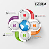 Abstract 3D digital business Infographic. Can be used for workflow process, business menu, user interface, banner, diagram, number options, work plan, web royalty free illustration