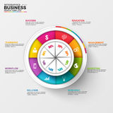 Abstract 3D digital business Infographic. Can be used for workflow process, business pyramid, banner, diagram, number options, work plan, web design royalty free illustration