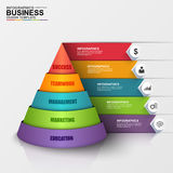 Abstract 3D digital business Infographic. Can be used for workflow process, business pyramid, banner, diagram, number options, work plan, web design Royalty Free Stock Image