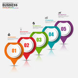Abstract 3D digital business Infographic. Can be used for workflow process, business pyramid, banner, diagram, number options, work plan, web design Stock Image