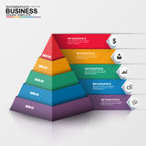 Abstract 3D digital business Infographic. Can be used for workflow process, business pyramid, banner, diagram, number options, work plan, web design Stock Photography