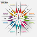 Abstract 3D digital business Infographic. Can be used for workflow processes, banner, origami diagram, number options, business chart, work planning, web royalty free illustration