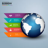 Abstract 3D digital business Infographic Royalty Free Stock Images